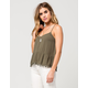 FULL TILT Baby Doll Pom Womens Tank