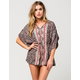 ANGIE Paisley Caftan Womens Romper