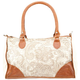 Lace Overlay Duffle Handbag