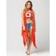 FULL TILT Waterfall Crochet Womens Vest