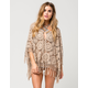 FULL TILT Medallion Fringe Womens Poncho