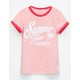 FULL TILT Summer Time Girls Ringer Tee