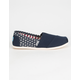 TOMS Americana Womens Canvas Classic Slip-Ons