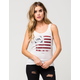 RVCA Flag Stamped Womens Tank
