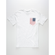 RIOT SOCIETY Flag Patch Mens T-Shirt