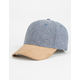 Suede Bill Mens Strapback Hat