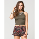 FULL TILT Suede Cage Back Womens Tank
