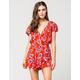 ANGIE Floral Womens Romper