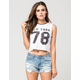 FULL TILT New York 78 Cropped Womens Muscle Tee