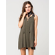 SOCIALITE Lace Up Swing Dress