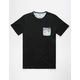 RUSTY Trap Mens Pocket Tee
