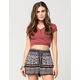 FULL TILT Wrap Crop Womens Top