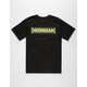 HOONIGAN Checkered Censor Bar Mens T-Shirt