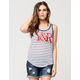 YOUNG & RECKLESS Core Logo Womens Ringer Tank