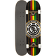 ELEMENT Rasta Black Seal Full Complete Skateboard- AS IS