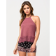 OTHERS FOLLOW Braided Strap Womens Halter Top