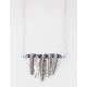 FULL TILT Feather/Triangle Statement Necklace