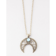 FULL TILT Crescent Moon Pendant Necklace