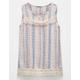 FULL TILT Crochet Trim Girls Tank