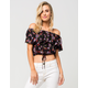 FULL TILT Floral Off The Shoulder Womens Top