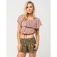 FULL TILT Ruffled Off The Shoulder Womens Top