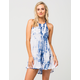 EN CREME Tie Dye Halter Dress