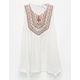 FULL TILT Pop Embroidery Girls Top