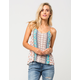 FULL TILT Floral Patch Womens Halter Top