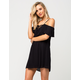 MIMI CHICA Cold Shoulder Lace Up Dress