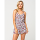GYPSIES & MOONDUST Floral Ruffle Womens Romper