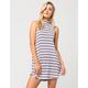 GYPSIES & MOONDUST Striped Mock Neck Dress
