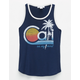 FULL TILT Cali Palm Retro Girls Ringer Tank