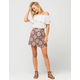 H.I.P. Printed Wrap Skirt