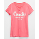 FULL TILT Candy Lace Up Girls Tee