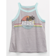 FULL TILT Hawaii Tropical Girls Ringer Tank