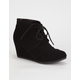 SODA Desert Wedge Girls Booties