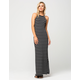 FULL TILT Ribbed Stripe Maxi Dress