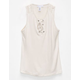 FULL TILT Crochet Lace Up Girls Tank
