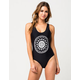 RVCA Skull Mandala One Piece Swimsuit