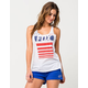 FOX Red White And True Womens Tank