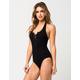 FULL TILT Lace Up Halter Womens Bodysuit