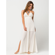 FULL TILT Crochet Trim Maxi Dress
