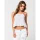 FULL TILT Crochet Womens Swing Tank