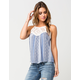 FULL TILT Patchwork Crochet Womens Tank