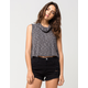 POLLY & ESTHER Cowl Neck Womens Tank