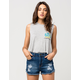 FULL TILT Palm Sunset Womens Muscle Tee