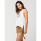 WHITE CROW Lace Side Suede Womens Shorts