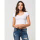 AMBIANCE Ribbed Cropped Womens Tee
