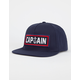 CAPTAIN FIN Naval Captain Mens Snapback Hat