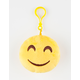 Plush Emoji Happy Face Keychain Bag Charm